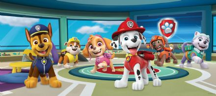 "Paw Patrol Panoramic mural wallpaper 202x90cm ""Base"""